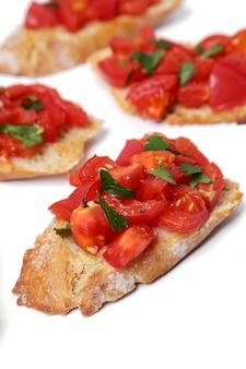 Bruschetta ready to eat