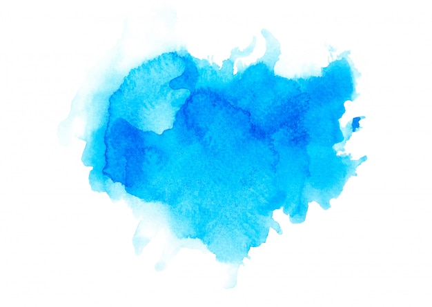 Brush blue watercolor.