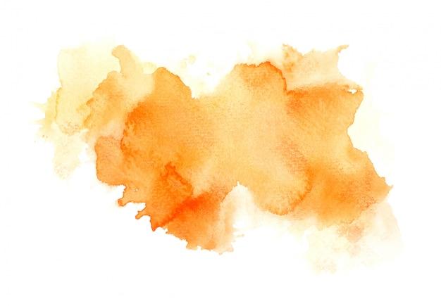 オレンジ色の水彩ブラシ
