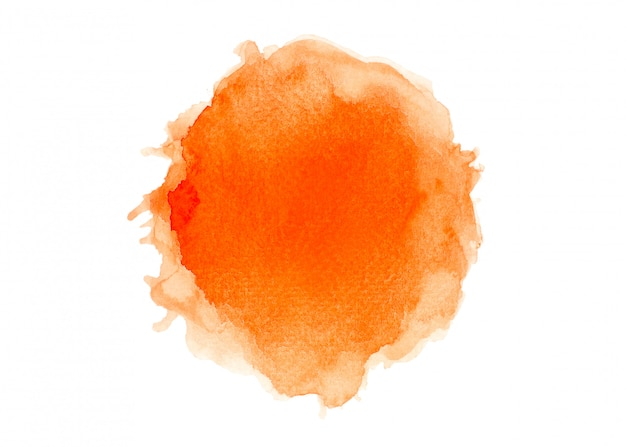 Brush orange watercolor.