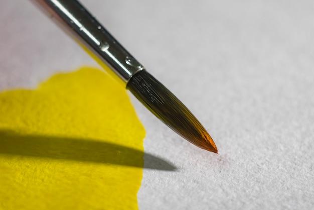 Brush paper and watercolor