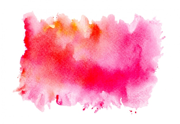 Brush pink watercolor on paper.