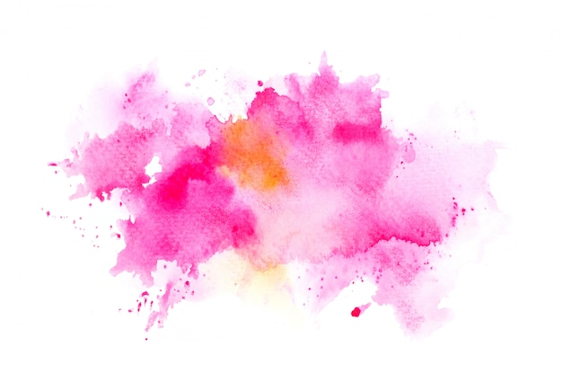 Brush pink watercolor
