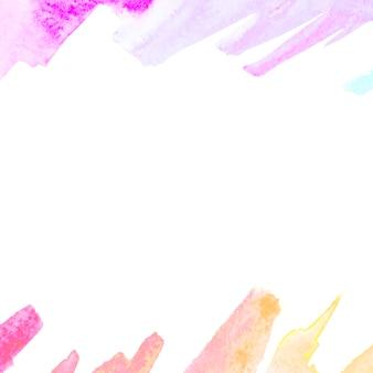 Brush stroke on white background