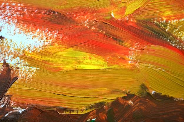 Кисть мазки пестротканый макрос масляной краски. пестрый абстрактный творческий фон