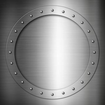 Brushed steel round frame