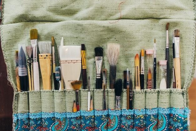ブラシ。絵筆コレクション