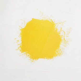 Brushstrokes of yellow paint with space for your own text