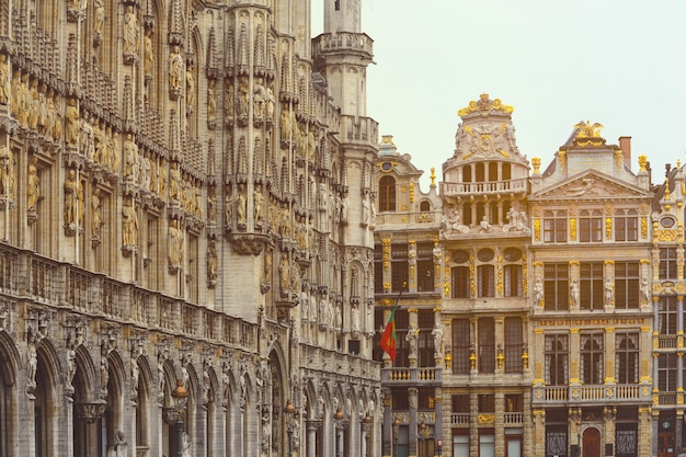 Brussels old town. grand place tourists attractions in brussels