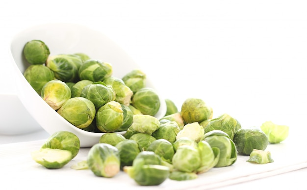Brussels sprouts in the plate