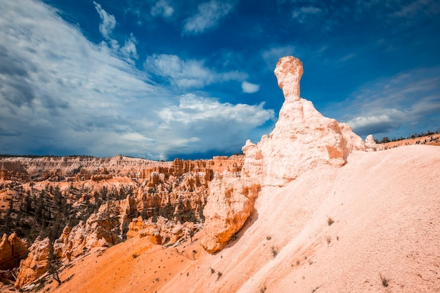 The bryce hammer on the queens garden trail trekking in bryce national park, utah. united states