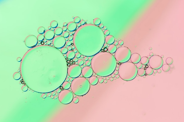 Bubble archipelago on contrasted background
