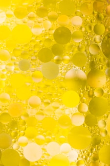 Bubble effect on yellow textured background