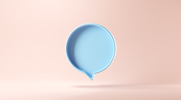 Bubble talk or comment sign symbol on pastel background