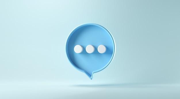 파란색 배경에 거품 이야기 또는 코멘트 기호.