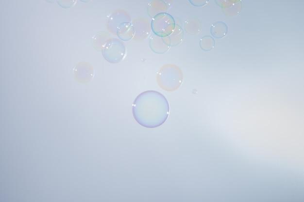 Bubbles colorful background white
