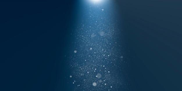 暗い深海に浮かぶ泡