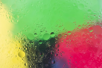 Bubbles over the colorful watercolor background