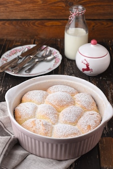 Buchteln  sweet rolls with plum jam