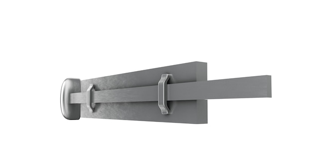 Buckle on an isolated white background. 3d illustration