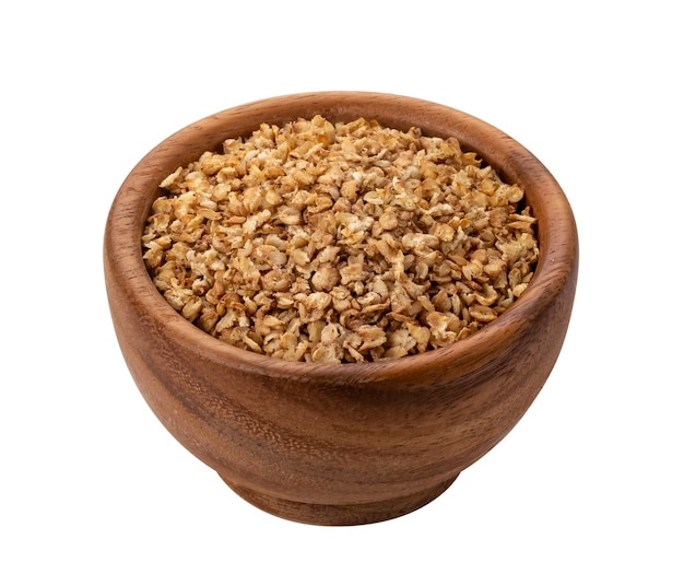 Buckwheat flakes isolated