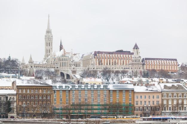Budapest castle in buda side of danube