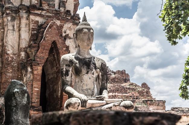 Buddha, ayutthaya historical park in thailand