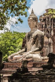 Buddha,ayutthaya historical park in thailand
