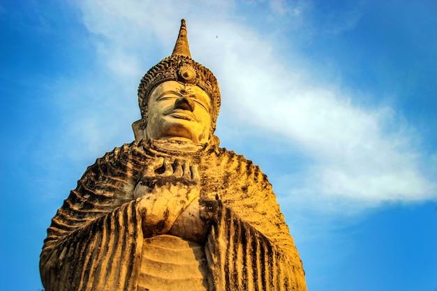 Buddha hindu style statue at sala kaew ku nongkhai thailand