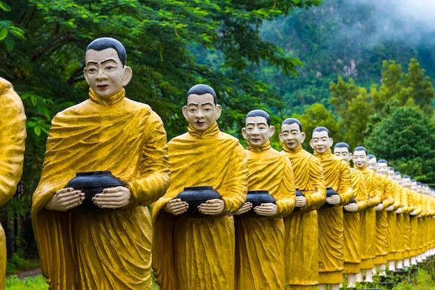 Buddha image statue burma style at tai ta ya monastery or sao roi ton temple of payathonsu