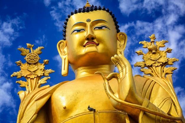 Статуя будды майтреи в ладакхе, индия