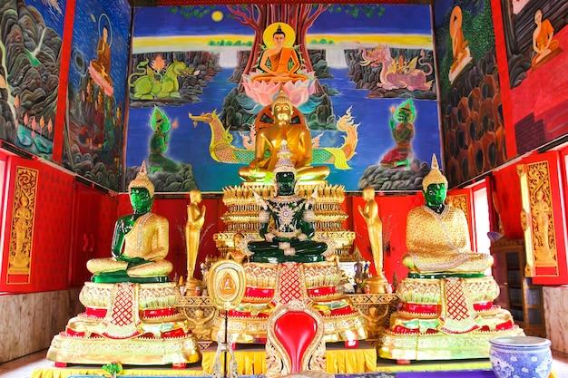 Buddha statue beautiful in the church of wat chee sukkhasem temple at suphanburi