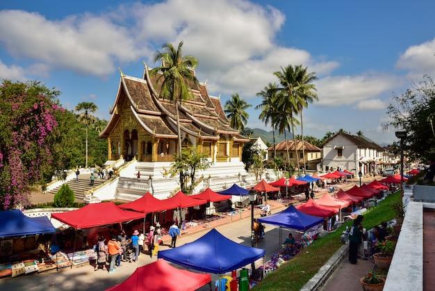 Buddha statue hall in luang prabang, laos
