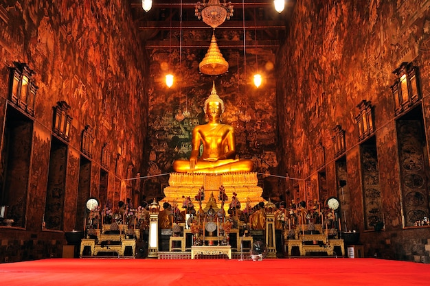 Buddha statue in temple, thailand