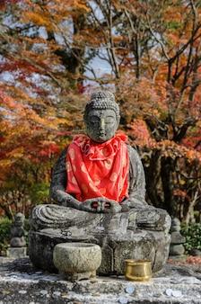 Buddha statues in adashino nenbutsuji temple in arashiyama, kyoto, japan