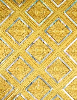 Buddha wall of thai style pattern