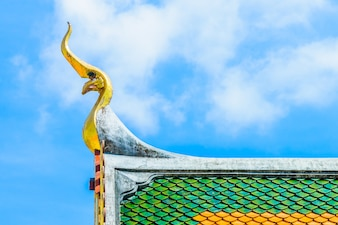 Buddhism top blue decoration architecture