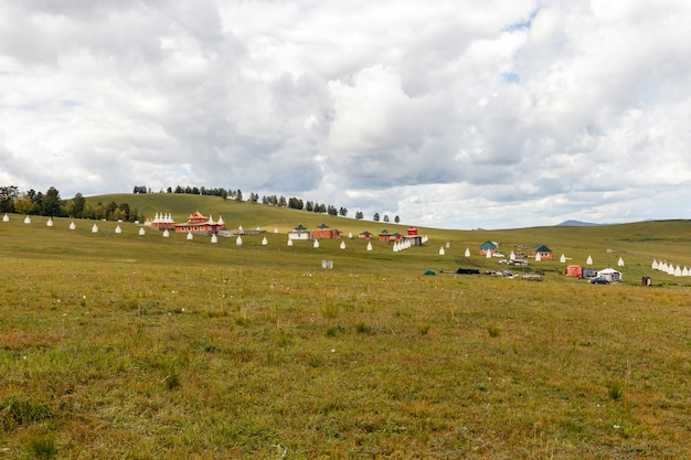 Buddhist monastery in the steppes