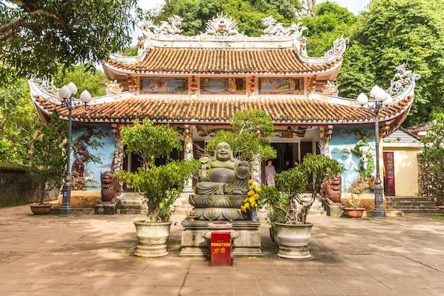 Buddhist pagoda, temple at marble mountains, da nang vietnam