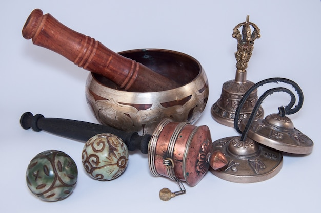 Buddhist religious objects for the performance of rituals