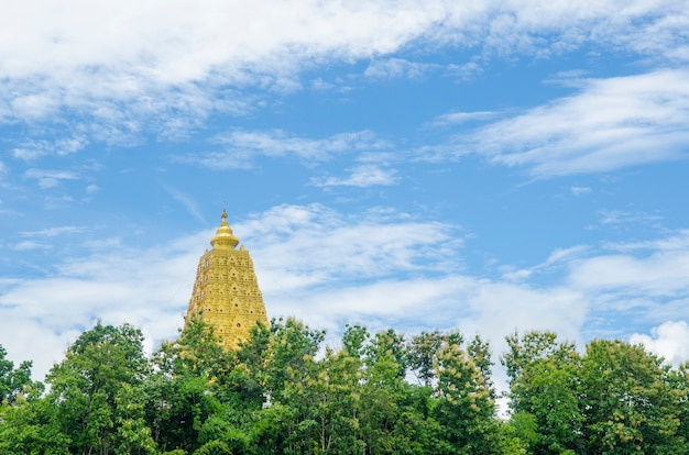 Buddhist sanctuary, sangklaburi, thailand.