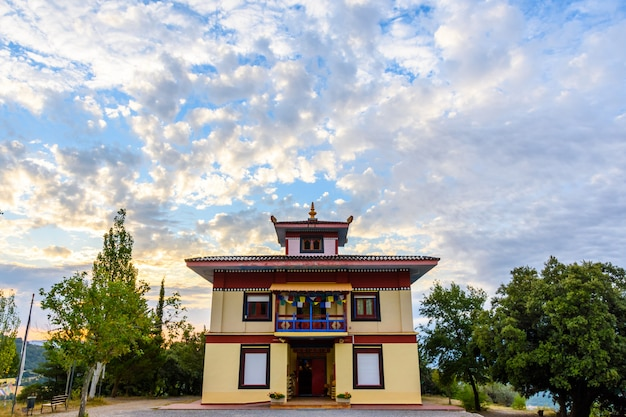 Buddhist temple dag shang kagyu in panillo huesca aragon spain