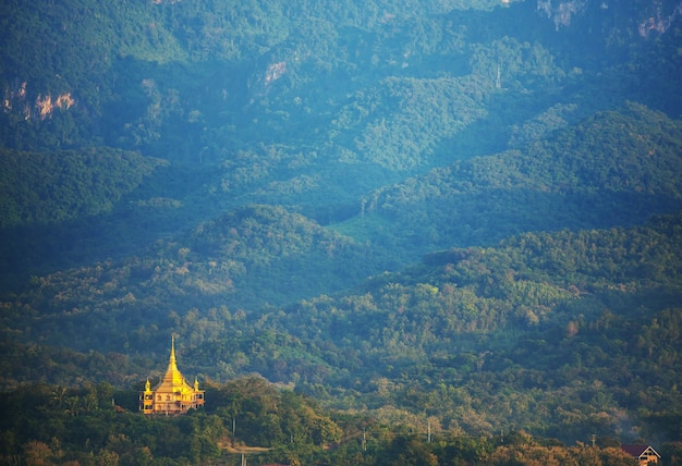 Buddhist temple in luang prabang,laos
