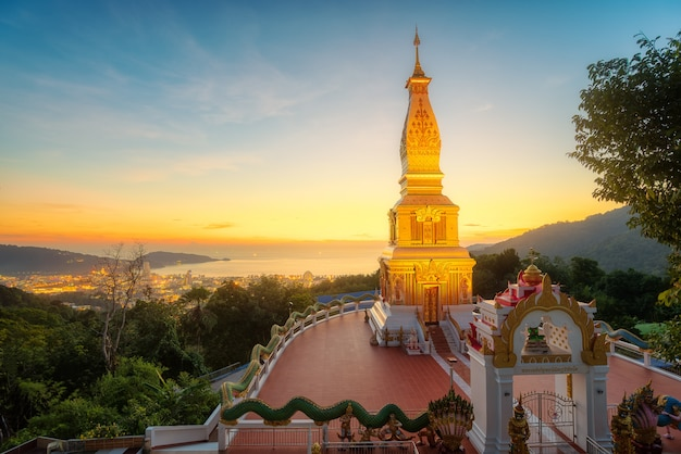 Buddhist temple in phuket thailand