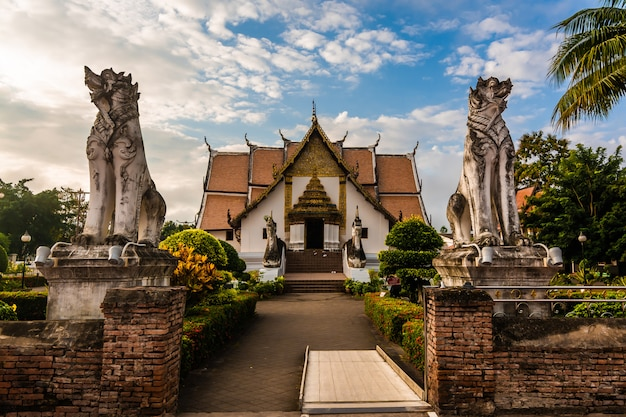 Buddhist temple of wat phumin in nan, thailand