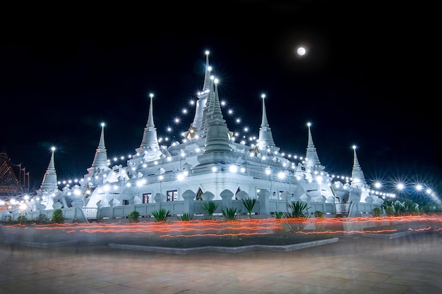 Buddhist in thailand come pray in magha puja day at asokaram temple samutprakarn province thailand