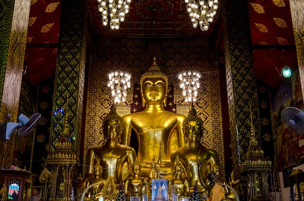 Buddist temple in lampoon, thailand