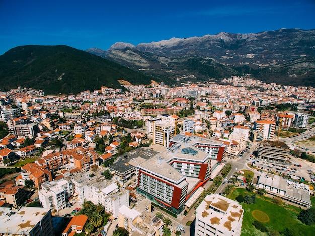 Будва в черногории новый город с воздуха