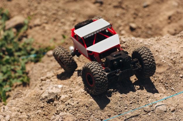 Buggy car riding in desert