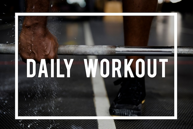 Build a body daily workout concept